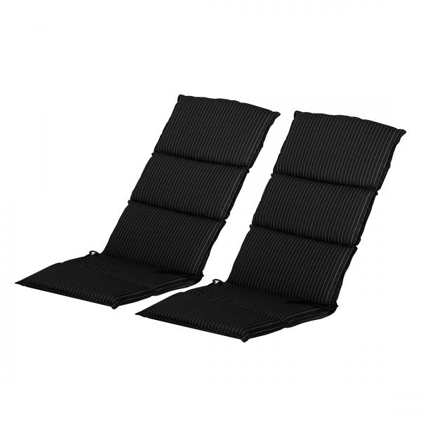 Kussens voor hoge stoelen royan 2 delige set geweven stof antraciet go de - Stof voor tuinmeubilair ...