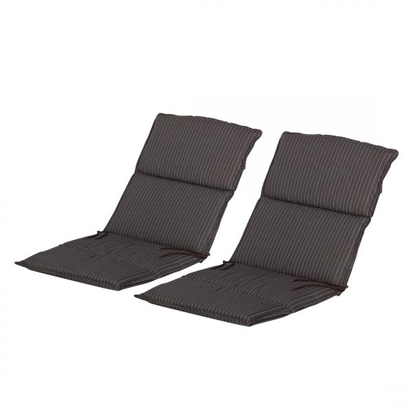 Kussens voor lage stoelen royan 2 delige set geweven stof taupe go de - Stof voor tuinmeubilair ...