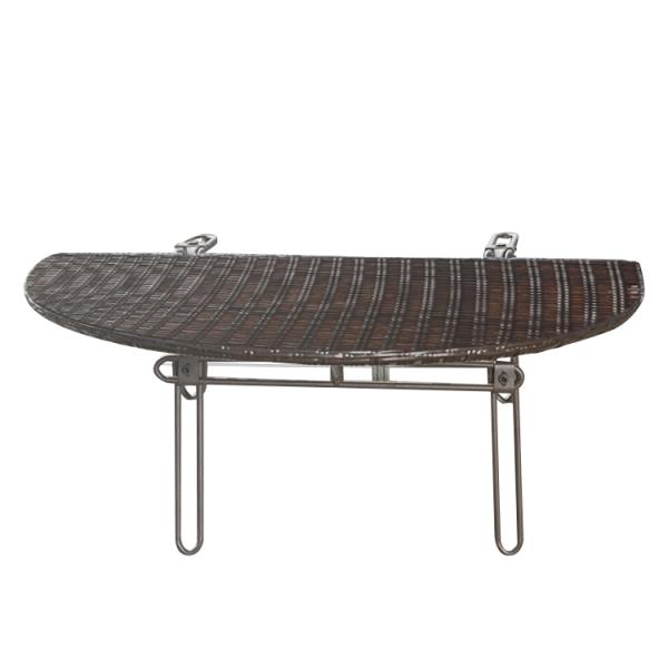 Balkon klaptafel Belem - staal/polyrotan