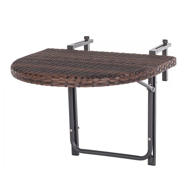 Balkonklaptafel ClickenClap - bruin polyrotan