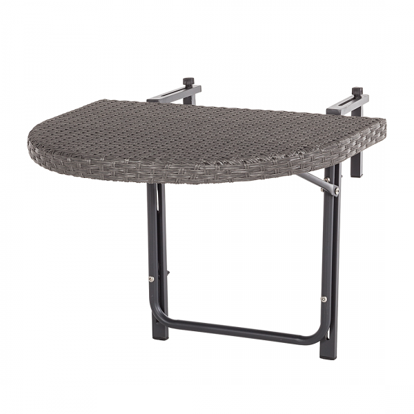 Balkonklaptafel ClickenClap - grijs polyrotan