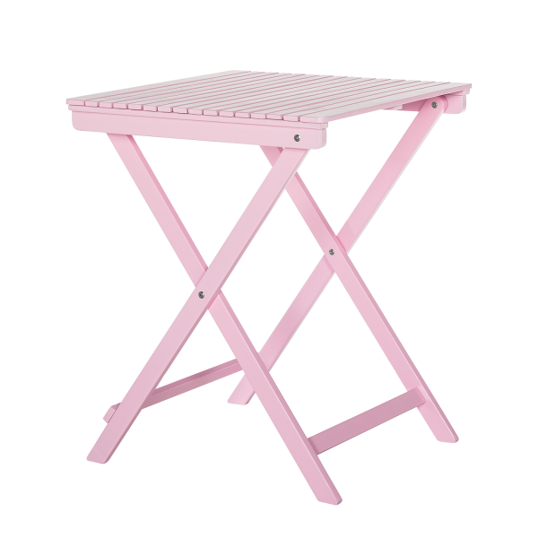 Balkontafel Betty Sue - massief acaciahout roze