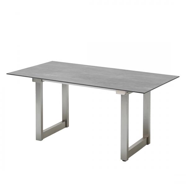 Tuintafel Nando (met uitschuiffunctie) - HPL/grijs roestvrij staal - 200x95cm