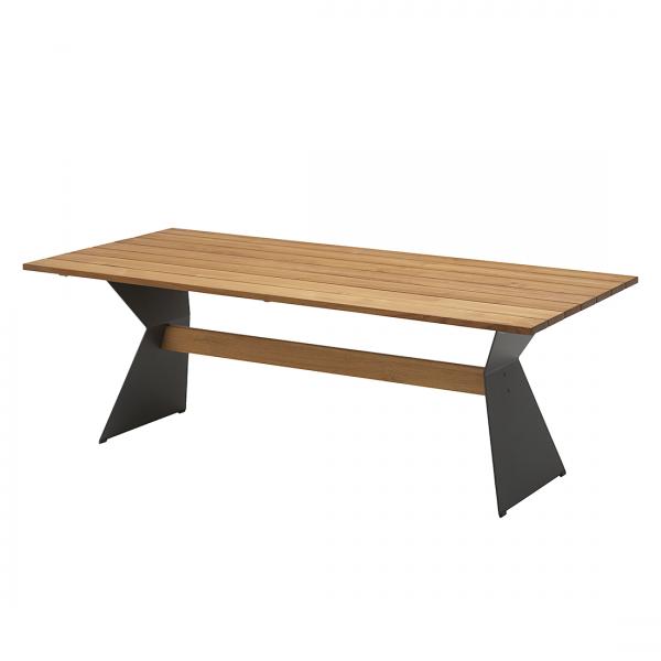 Tuintafel Noah - massief teakhout/staal - 200x95cm