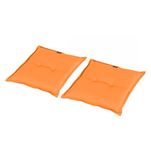 Zitkussens Vatan (2-delige set) - geweven stof - Mandarijn