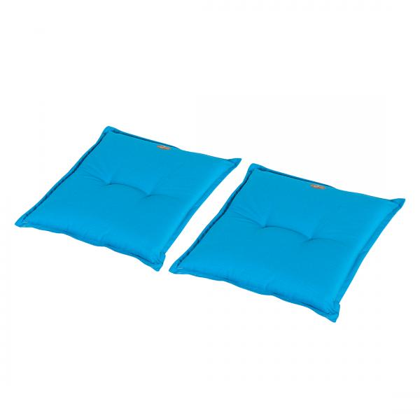 Zitkussens Vatan (2-delige set) - geweven stof - Turquoise
