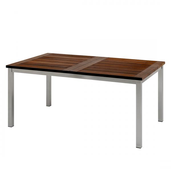 Tafel Brevik - met uitschuiffunctie - massief thermo essenhout/roestvrij staal - 180x95cm