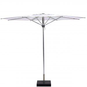 Deze Borek Aluminium parasol Wit koop je via Tuinmeubelendeal.nl