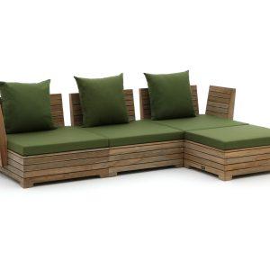 ROUGH-B chaise longue loungeset 4-delig - Laagste prijsgarantie!