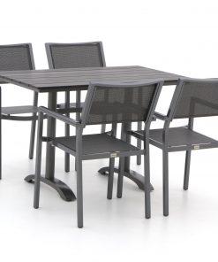Bellagio Roma/Lisio 120cm dining tuinset 5-delig stapelbaar - Laagste prijsgarantie!