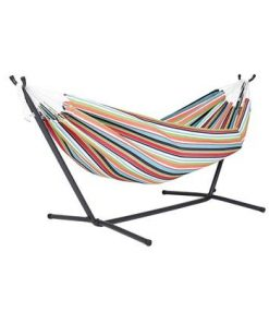 Vivere Sunbrella Hangmat met Standaard - Tuinmeubelendeal.nl