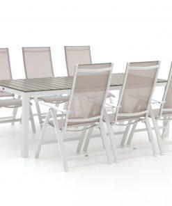 Bellagio Avenza/Fidenza 220cm dining tuinset 7-delig verstelbaar - Laagste prijsgarantie!